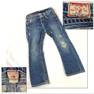Girls True Religion Distressed Jeans Denim Size 5